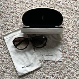 Ysl aviator brown tortoise sunglasses
